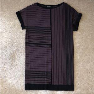 Nine West Purple Striped Dress XS